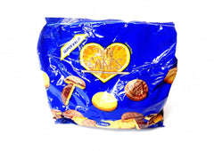 jaffa cakes in a 400 gram blue bag