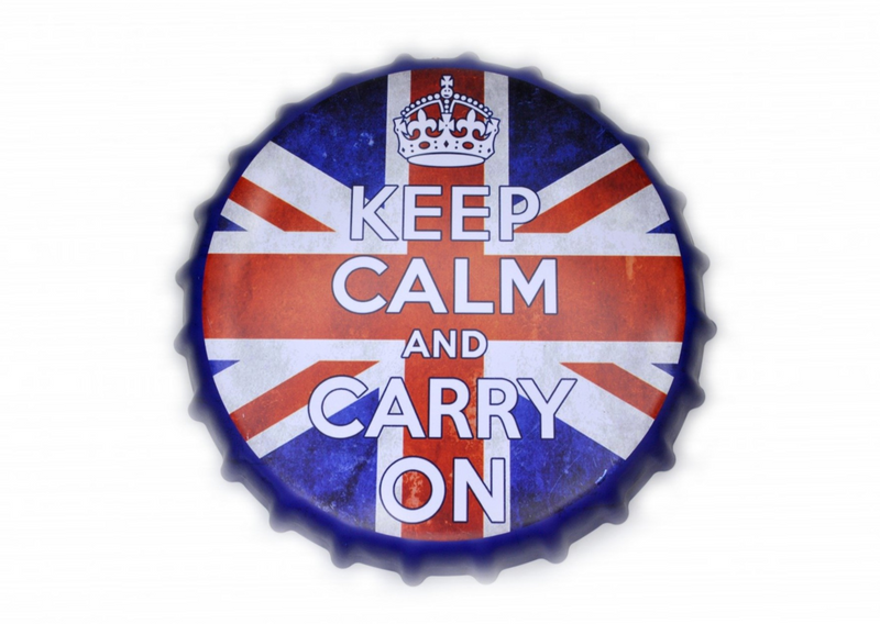Keep Calm Bottle Cap Sign