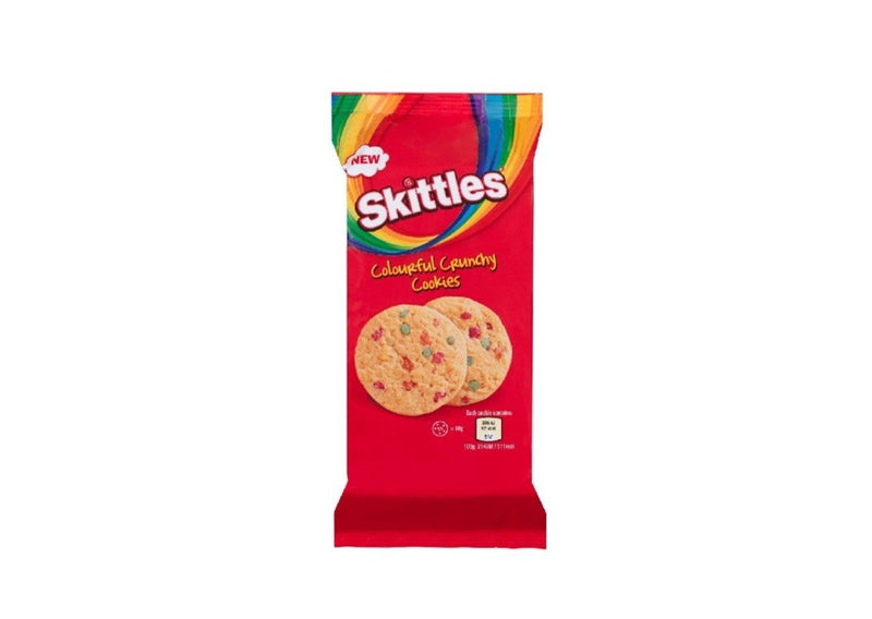 skittles colourful crunchy cookies