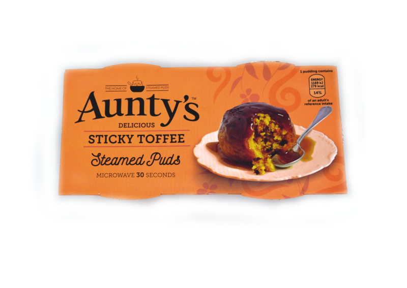 Aunty's Sticky Toffee Steamed Puds - 2 x 95g