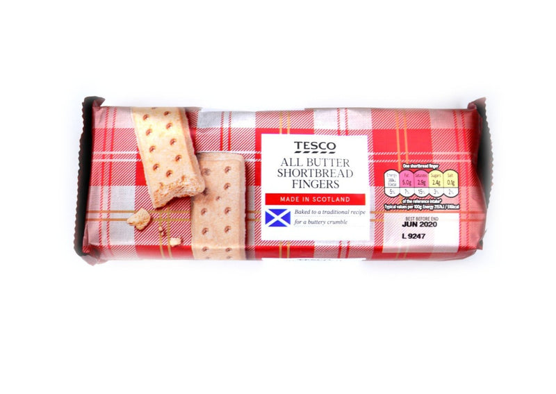 Tesco All Butter Shortbread Fingers - 250g