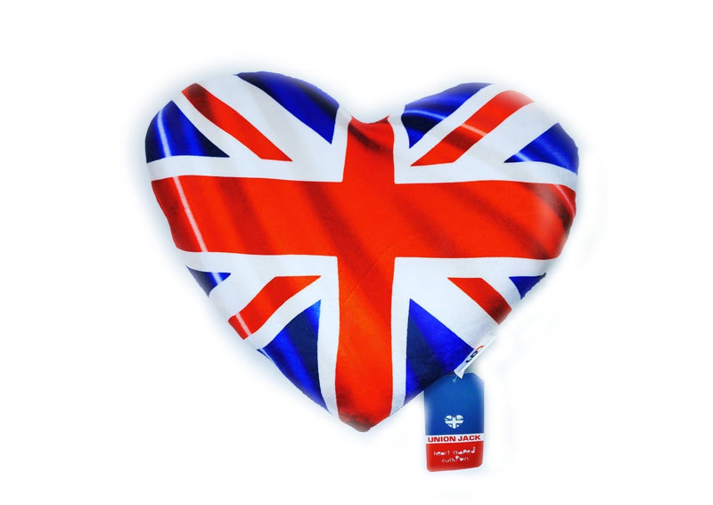 Union Jack Heart Shaped Pillow