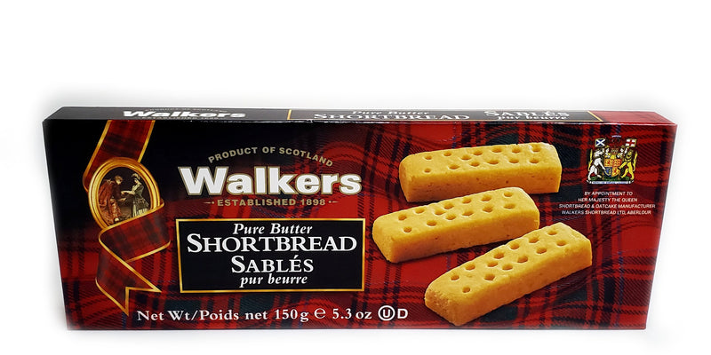 walkers pure butter shortbread box