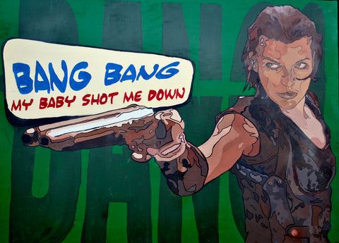 bang bang, gianluca resi, pop art, paintings for sale,