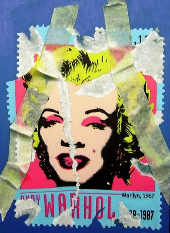 marilyn monroe, giovan battista rotella, pop art, original paintings for sale,