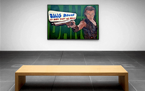 BANG BANG RESIDENT EVIL MOVIE ORIGINAL POP ART ACRYLIC PAINTING SIGNED - Arterama's