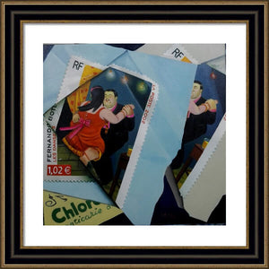 BOTERO SMALL PAINTING OIL ON CANVAS SIGNED PORTRAIT ORIGINAL DANCERS - Arterama's