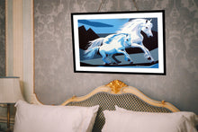 Load image into Gallery viewer, WHITE HORSES ORIGINAL ACRYLIC ON CANVAS FILLY PAINTING SIGNED PORTRAIT - Arterama's