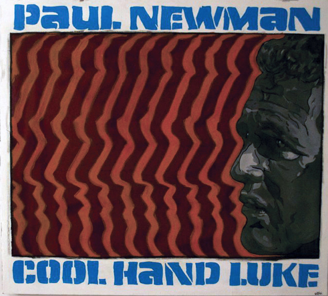 PAUL NEWMAN ORIGINAL SIGNED PORTRAIT PAINTING COOL HAND LUKE MOVIE 60s - Arterama's
