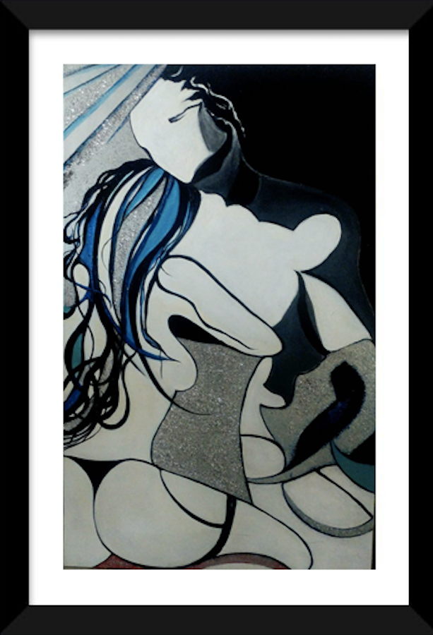BACKSIDE WOMAN PAINTING ORIGINAL SIGNED NUDE FEMALE EROTIC BEHIND BODY - Arterama's