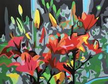 Load image into Gallery viewer, IKEBANA ORIGINAL VIVID COLORS PAINTING SIGNED BY PIERNICOLA MUSOLINO - Arterama's