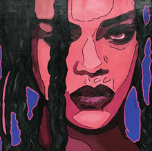 Load image into Gallery viewer, RIHANNA ORIGINAL MUSIC POPSTAR PORTRAIT ORIGINAL POP ART SIGNED - Arterama's