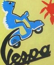 ORIGINAL OIL PAINTING VINTAGE 1960s THEME CANVAS SIGNED NUTELLA VESPA PINOCCHIO - Arterama's