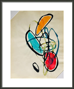 HYGGE EASE ORIGINAL ABSTRACT WATERCOLOR SIGNED WELLNESS COZINESS LOVE - Arterama's