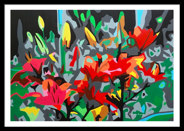 IKEBANA ORIGINAL VIVID COLORS PAINTING SIGNED PIERNICOLA MUSOLINO - Arterama's