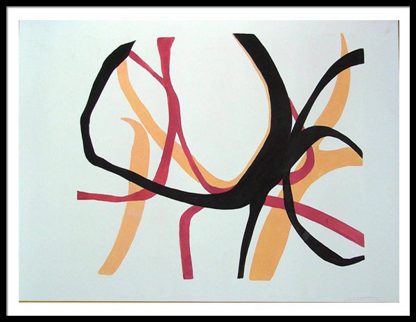 KILIG ORIGINAL ABSTRACT DRAWING SIGNED PAINTING ROMANTIC FEELING LOVE - Arterama's