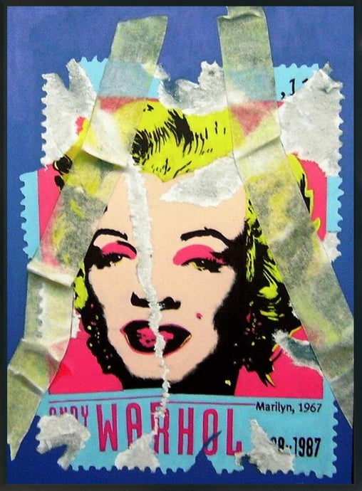 MARILYN MONROE PORTRAIT ORIGINAL OIL PAINTING ON CANVAS SIGNED POP ART - Arterama's