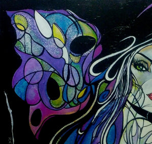 METAMORPHOSIS ORIGINAL PAINTING BUTTERFLY TRANSFORMATIONS CYCLE LIFE - Arterama's