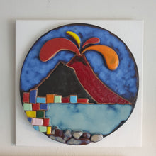 Load image into Gallery viewer, Beautiful Hand Painted Ceramic Plate with Vesuvio