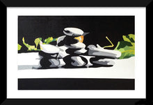Load image into Gallery viewer, PEBBLES ORIGINAL ZEN ASIAN PAINTING SIGNED ABSTRACT YOGA MEDITATION - Arterama's