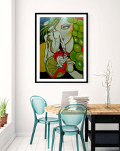 Load image into Gallery viewer, THE GRAPES MYTHOLOGY ORIGINAL PAINTING SIGNED FERTILITY PROSPERITY WOMAN - Arterama's