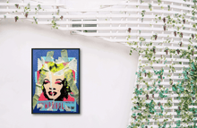 Load image into Gallery viewer, MARILYN MONROE PORTRAIT ORIGINAL OIL PAINTING ON CANVAS SIGNED POP ART - Arterama's