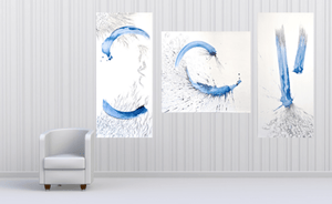 ORIGINAL ABSTRACT TRIPTYCH ACRYLIC PAINTING FOR SALE - Arterama's