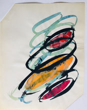 Load image into Gallery viewer, TWO ABSTRACT WATERCOLORS ON TISSUE PAPER - Arterama's