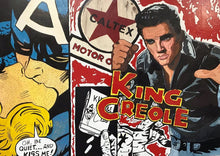 Load image into Gallery viewer, ELVIS PRESLEY ORIGINAL SIGNED PORTRAIT PAINTING POP ART KING CREOLE - Arterama's