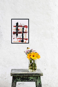 ASHOKA ORIGINAL ABSTRACT WATERCOLOR SIGNED MODERN ASIAN BUDDHA MEDITATION ZEN - Arterama's