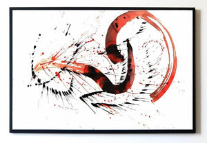 VIRAHA ORIGINAL ART ABSTRACT SIGNED DRAWING LOVE SEPARATION FEELING - Arterama's