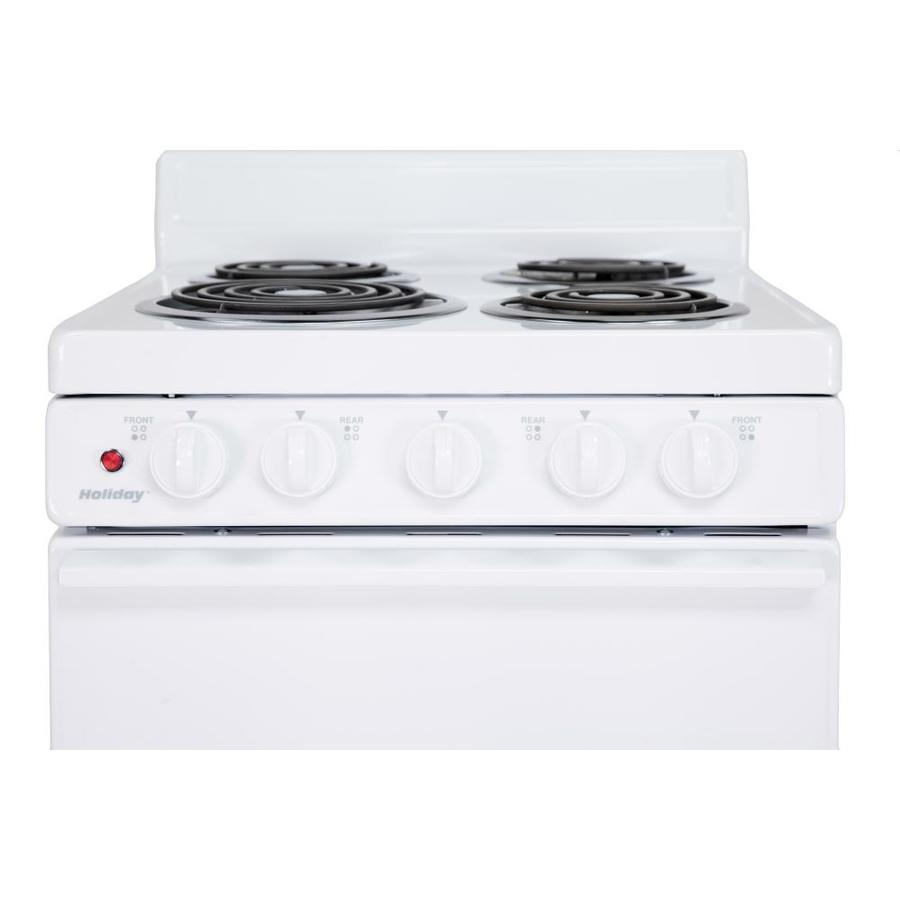 Holiday 2.4-cu ft Freestanding Electric Range (White) Apartment Trailer  EAK10MOO