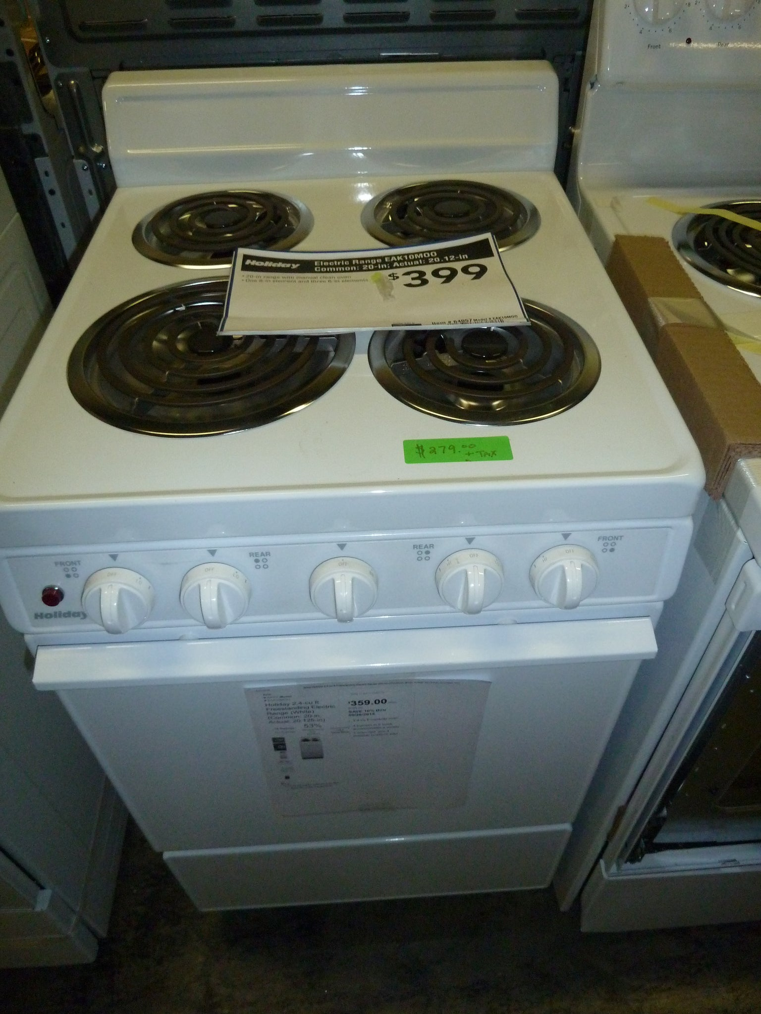 Holiday 2.4-cu ft Freestanding Electric Range (White ...