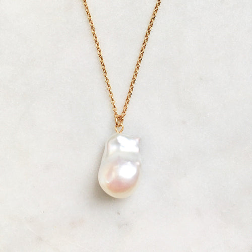 Barok necklace - white