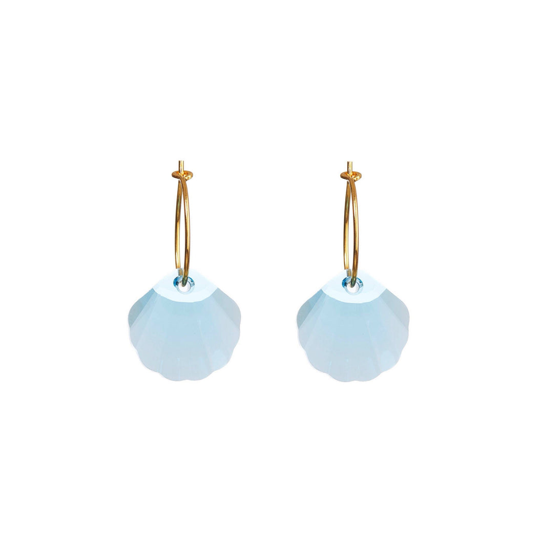 Swarovski shell earring - blue