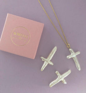 Pearly Cross necklace (limited)