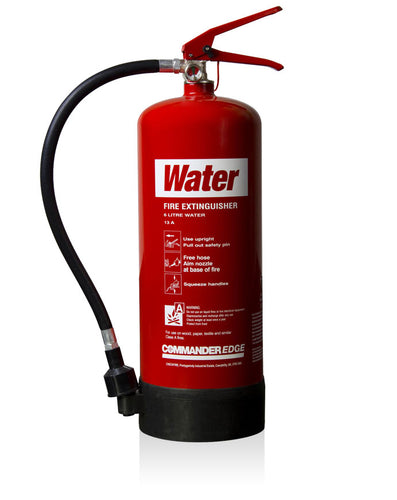 Commander Edge 6ltr Water Fire Extinguisher