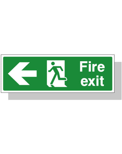 Fire Exit Sign - Left Direction