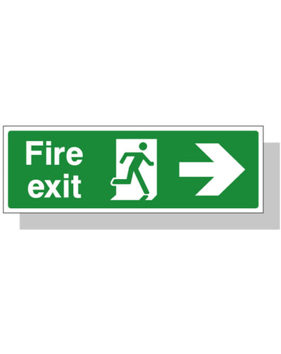Fire Exit Sign - Right Direction