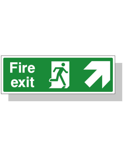 Fire Exit Sign - Up Right Direction