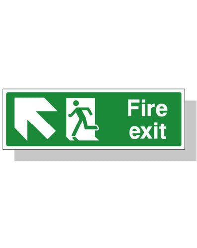 Fire Exit Sign - Up Left Direction