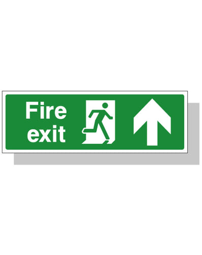 Fire Exit Sign - Up Direction