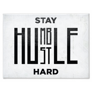 STAY HUMBLE, HUSTLE HARD: CanvasMafia Inspirational Canvas Wall Art for Office and Home Decor