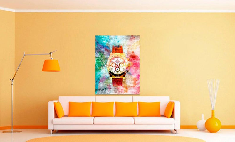 TIME IS MONEY WATCH: CanvasMafia Inspirational Canvas Wall Art for Office and Home Decor