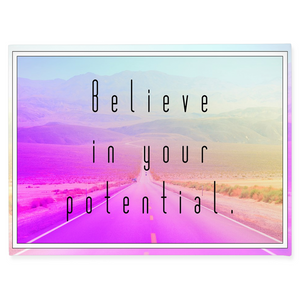 Believe in Your Potential - Inspirational Wall Art, Office Wall Art, Office Decor, Office Wall, Office Wall Decor