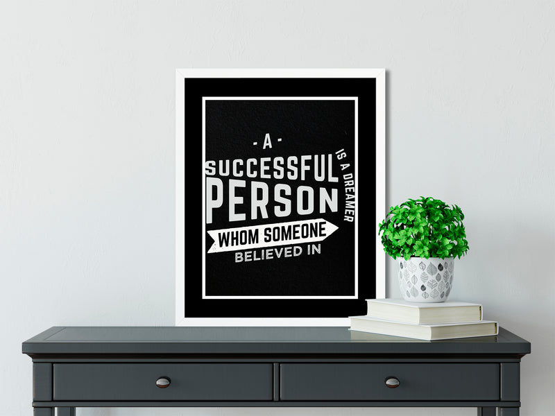 A SUCCESSFUL PERSON (BLACK) - Office Decor, Inspirational Wall Art, Quote Prints, Inspirational Print, Dorm Decor