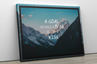 A Goal Without a Plan - Inspirational Wall Art, Office Wall Art, Office Decor, Office Wall, Office Wall Decor