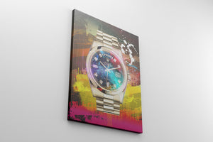 HUSTLE WRIST WATCH: CanvasMafia Inspirational Canvas Wall Art for Office and Home Decor