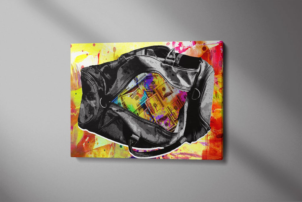 MONEY BAG: CanvasMafia Inspirational Canvas Wall Art for Office and Home Decor