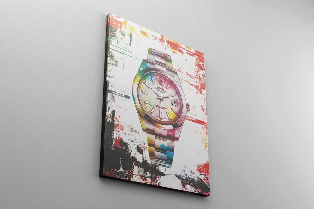 TIME OF SUCCESS WRIST WATCH: CanvasMafia Inspirational Canvas Wall Art for Office and Home Decor